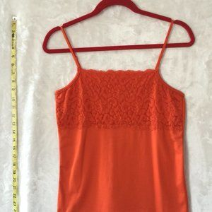 BOUTIQUE ESSENTIALS  Orange Lace Camisole